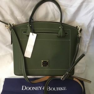NWT Dooney & Bourke Domed Satchel/Crossbody Olive